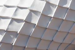 白色金刚石形状灰泥的样式 免版税库存照片