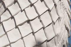 白色金刚石形状灰泥的样式 免版税库存图片
