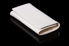 白色钱包 免版税图库摄影