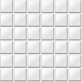 白色铺磁砖无缝的样式 免版税图库摄影
