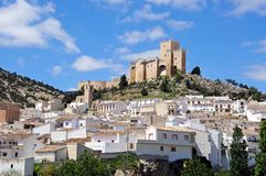 白色镇, Velez布兰科,西班牙 库存照片