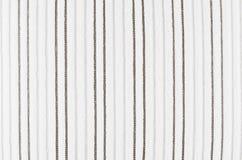 白色镶边条绒织品纹理 免版税库存照片