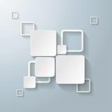白色长方形摆正2个选择 免版税库存照片