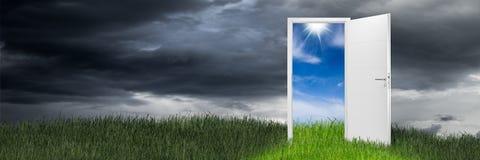 白色门户开放主义的概念 免版税图库摄影