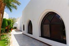 白色阿拉伯房子 库存图片