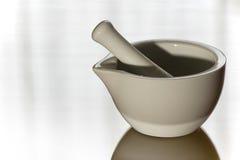 白色陶瓷灰浆 库存照片