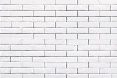白色陶瓷砖墙壁背景 库存图片