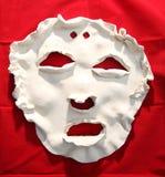 白色陶瓷面罩 免版税库存图片