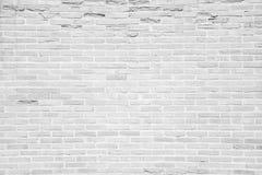 白色难看的东西砖墙纹理背景 免版税库存照片