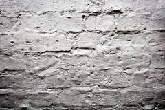 白色难看的东西空的砖墙 库存图片