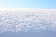 白色雪在反对天空的2月 库存图片