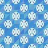 白色雪花的无缝的样式 图库摄影