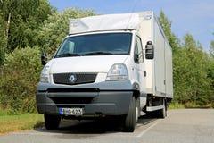 白色雷诺Mascott轻型卡车 免版税库存照片