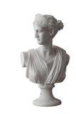 白色顶头大理石象罗马蜡膜或希腊得墨忒耳 免版税库存照片