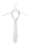白色领带 免版税库存图片