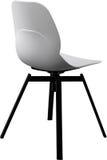 白色颜色塑料椅子,现代设计师 在白色背景隔绝的转椅 家具例证内部向量 库存图片