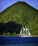 白色风船在加勒比- 2 免版税库存照片