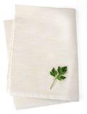 白色餐巾 免版税库存图片