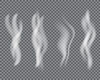 白色香烟烟或蒸气特技效果 库存图片