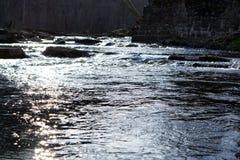 白色黏土小河在特拉华 库存图片