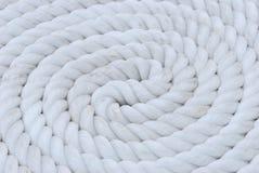 白色绳索卷 免版税库存照片