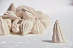 白色黏土粉末 免版税库存照片