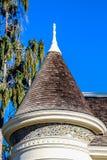 白色维多利亚女王时代的房子细节 免版税图库摄影
