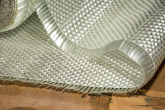 白色玻璃纤维综合原材料 免版税库存图片