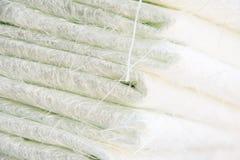 白色玻璃纤维综合原材料 图库摄影