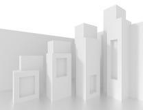 白色建筑学背景 库存照片