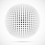 白色3D传染媒介中间影调球形 被加点的球状背景 徽标 免版税图库摄影