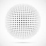 白色3D传染媒介中间影调球形 被加点的球状背景 徽标 图库摄影