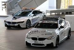 白色BMW跑车 库存图片