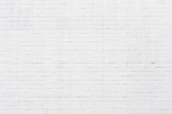 白色brickwall表面 免版税库存照片
