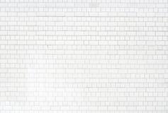 白色brickwall表面 库存图片