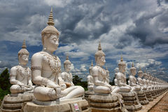 白色Buddhas 库存图片