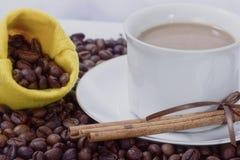 白色coffe 库存图片