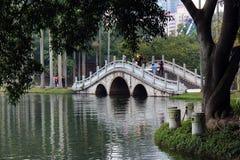 白色Dragon湖在人` s公园,南宁,中国 免版税库存图片