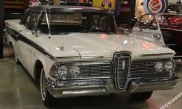 1959白色Edsel海盗 图库摄影