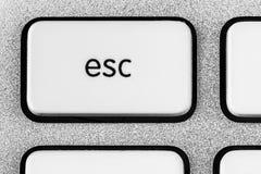 白色ESC按钮 图库摄影