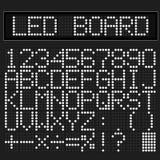 白色LED数字式字体 免版税库存照片
