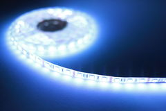白色LED条形照明灯 免版税库存照片
