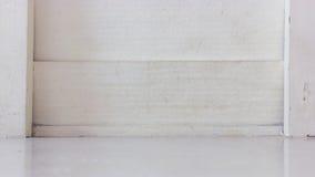 白色Shera木墙壁,背景 免版税库存图片