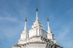 白色stupa 库存图片