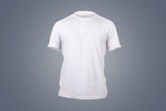 白色T恤杉模板 免版税图库摄影
