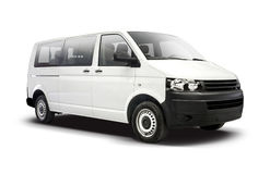 白色VW运输者 免版税库存图片
