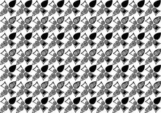 黑白花样式例证 免版税库存照片