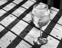 白葡萄酒喷流 库存图片