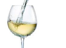 白葡萄酒飞溅 免版税库存图片