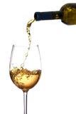 白葡萄酒玻璃 免版税库存照片